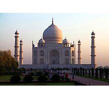 The Taj Mahal at sunrise. Photographic Print