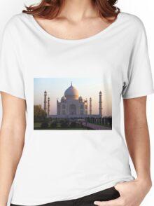 The Taj Mahal at sunrise. Women's Relaxed Fit T-Shirt