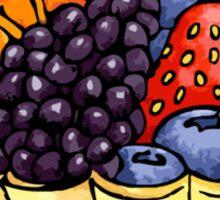 Fruit and Berry Dessert Cup Sticker