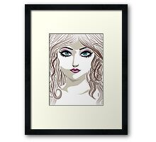 Brunette girl 2 Framed Print