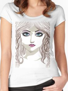 Brunette girl 2 Women's Fitted Scoop T-Shirt