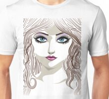 Brunette girl 2 Unisex T-Shirt