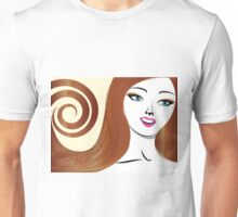 Brunette girl 4 Unisex T-Shirt