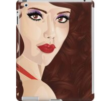 Brunette girl 6 iPad Case/Skin