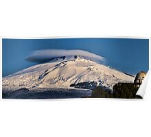 Mt. Etna this morning Poster
