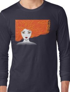 Girl with red hair Long Sleeve T-Shirt