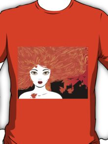 Autumn girl with red hair T-Shirt
