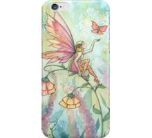 Free Fairy and Butterfly Art Watercolor Illustration  iPhone Case/Skin