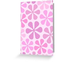 Abstract Flowers in Pinks Greeting Card