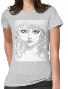 Beauty woman face 4 Womens Fitted T-Shirt