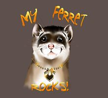 My Ferret Rocks Mens V-Neck T-Shirt