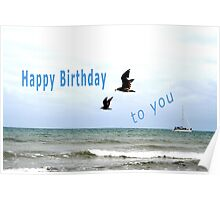 Happy Birthday Sea-birds. Poster