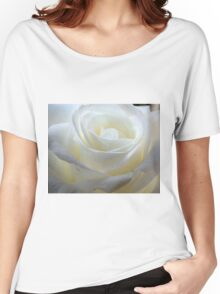 Close up of white rose 10 Women's Relaxed Fit T-Shirt