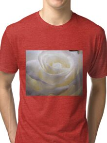 Close up of white rose 10 Tri-blend T-Shirt