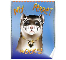 My Ferret Rocks Poster