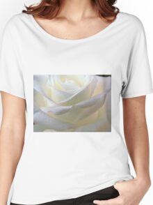 Close up of white rose 11 Women's Relaxed Fit T-Shirt