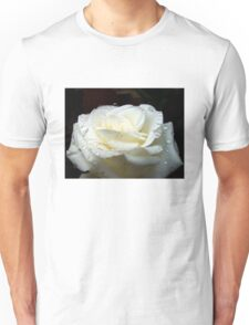 Close up of white rose 13 Unisex T-Shirt