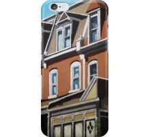 """City Row Houses"" - city buildings oil painting iPhone Case/Skin"