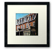 """City Row Houses"" - city buildings oil painting Framed Print"