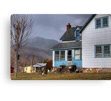 The House with Blue Trim Canvas Print