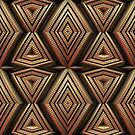 3-D Metallic Pattern by Lyle Hatch