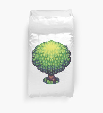 Pixel Art Tree Duvet Cover
