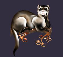 Ferret On A Branch Mens V-Neck T-Shirt