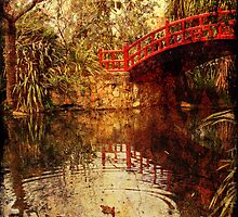 Kawasaki Bridge at Wollongong Botanic Gardens  - ghost by Vanessa Pike-Russell