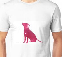 Pink abstract dog large poster Unisex T-Shirt