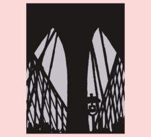 brooklyn bridge silhouette One Piece - Long Sleeve