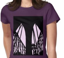 brooklyn bridge silhouette Womens Fitted T-Shirt