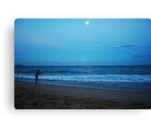 Moonlight Fishing Canvas Print