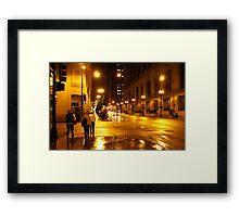 Windy City Lights  Framed Print