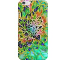 Abstract peacock Chrysanthemum iPhone Case/Skin