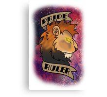 Pride Ruler- Lion Space Design Canvas Print