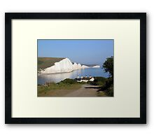 Classic view of the 7 sisters Framed Print