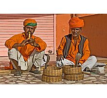 Snake charmers Photographic Print