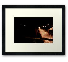 The Beauty of the Motor-Way   Framed Print