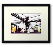 DigiCity-Intersection Framed Print