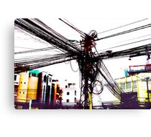 DigiCity-Intersection Canvas Print