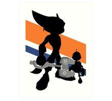 Ratchet & Clank Silhouette Art Print