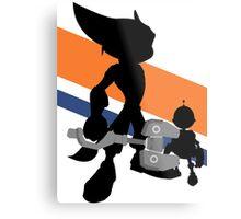 Ratchet & Clank Silhouette Metal Print