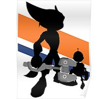 Ratchet & Clank Silhouette Poster