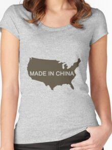 Made in China Women's Fitted Scoop T-Shirt