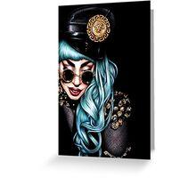 Teal Versace Greeting Card