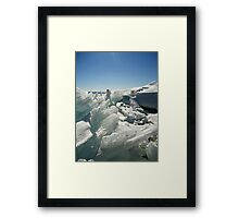 Big Lake, Big Ice Framed Print