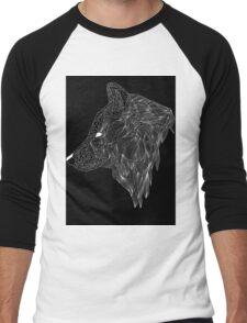 Wolf Profile Men's Baseball ¾ T-Shirt