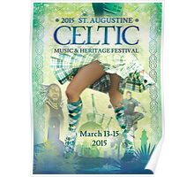 Official Poster of the 2015 St. Augustine Celtic Music and Heritage Festival Poster