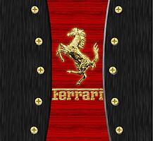 Ferrari ~ Wood Red & Gold by vdezine