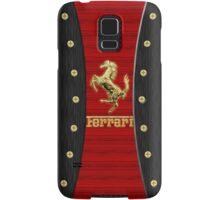 Ferrari ~ Wood Red & Gold Samsung Galaxy Case/Skin